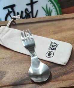 Reusable stainless steel spork