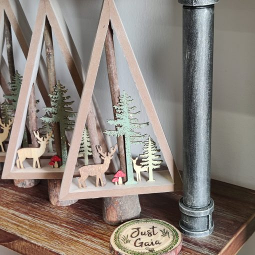 Rustic Wooden Christmas Tree
