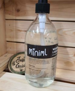 Our Miniml Washing Up Liquid Refill and Bottle at Just Gaia Halifax