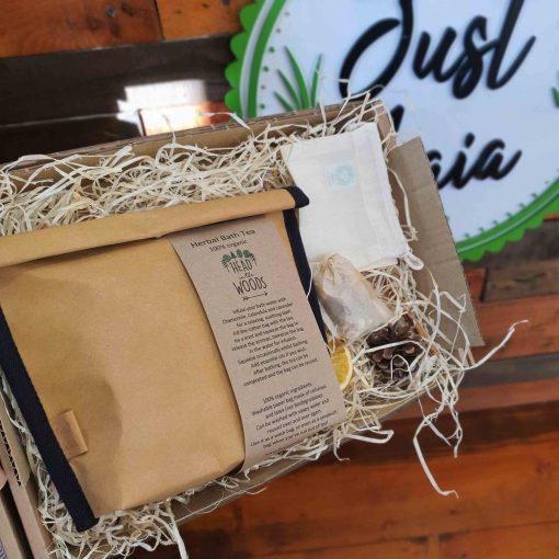 Herbal Bath Tea Gift Set in gift box at Just Gaia, UK