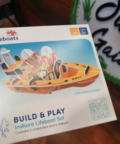 Plastic Free RNLI Lifeboat playset front box from in store at Just Gaia Halifax UK