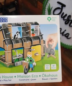 Plastic Free Eco House Playset front box from in store at Just Gaia Halifax UK