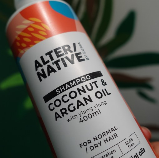coconut and argan oil shampoo