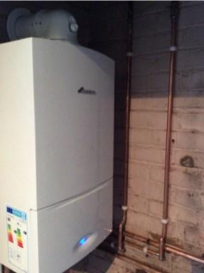 domestic boiler installation