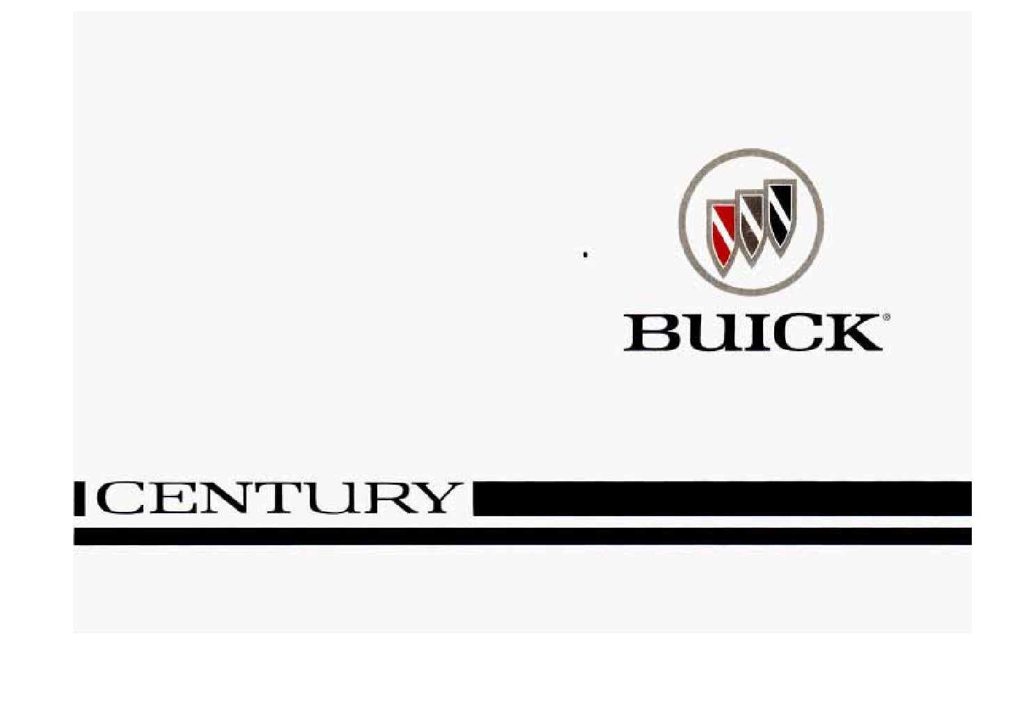Buick Century Owners Manual