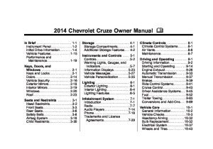 2014 chevrolet cruze Owners Manual | Just Give Me The Damn Manual