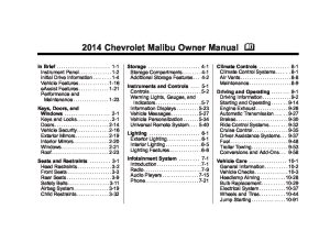 2014 chevrolet malibu Owners Manual | Just Give Me The