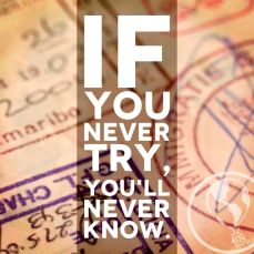 if u never try...