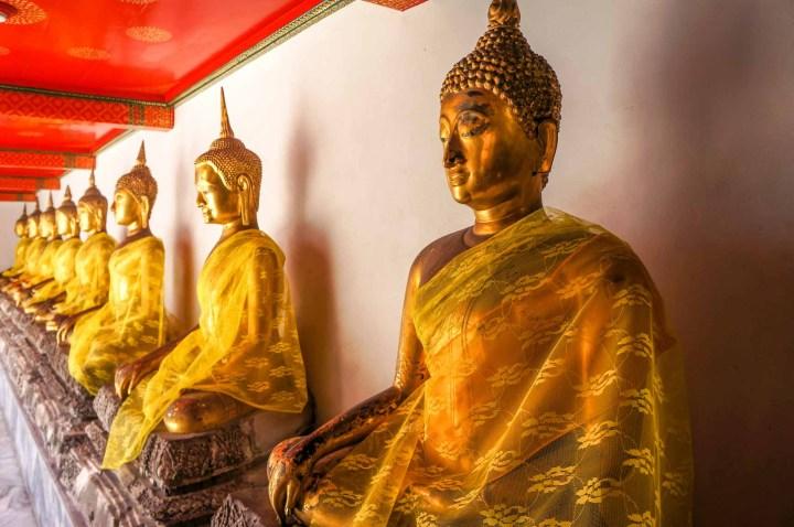 Bangkok Thailand Wat Pho boeddha beelden