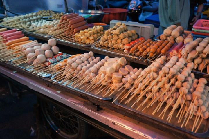 avondmarkt Ayutthaya Thailand