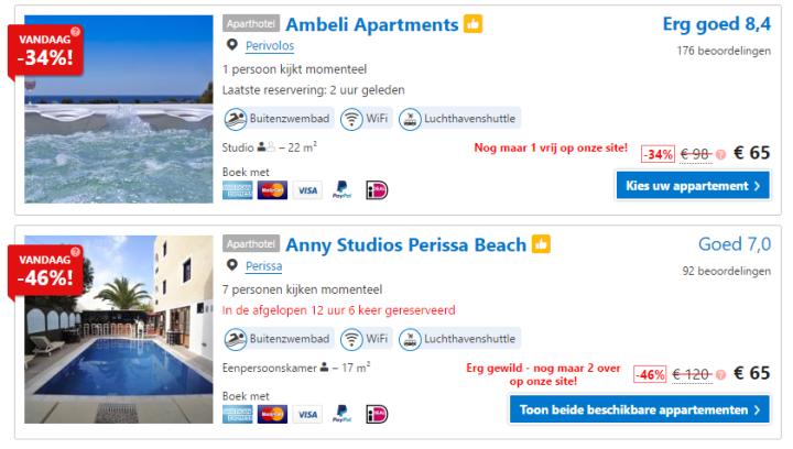 booking.com aanbiedingen