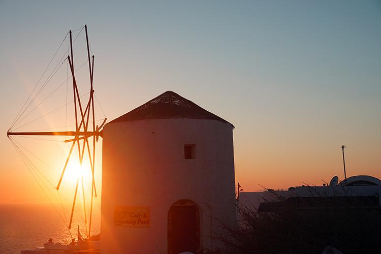 Santorini Oia zonsondergang