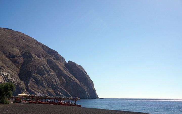 Santorini Perissa Black Beach