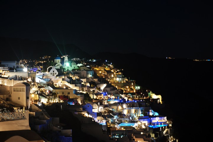 Santorini nacht