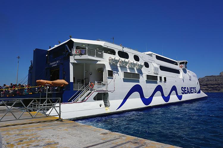 Eilandhoppen op de Cycladen - Seajets boot
