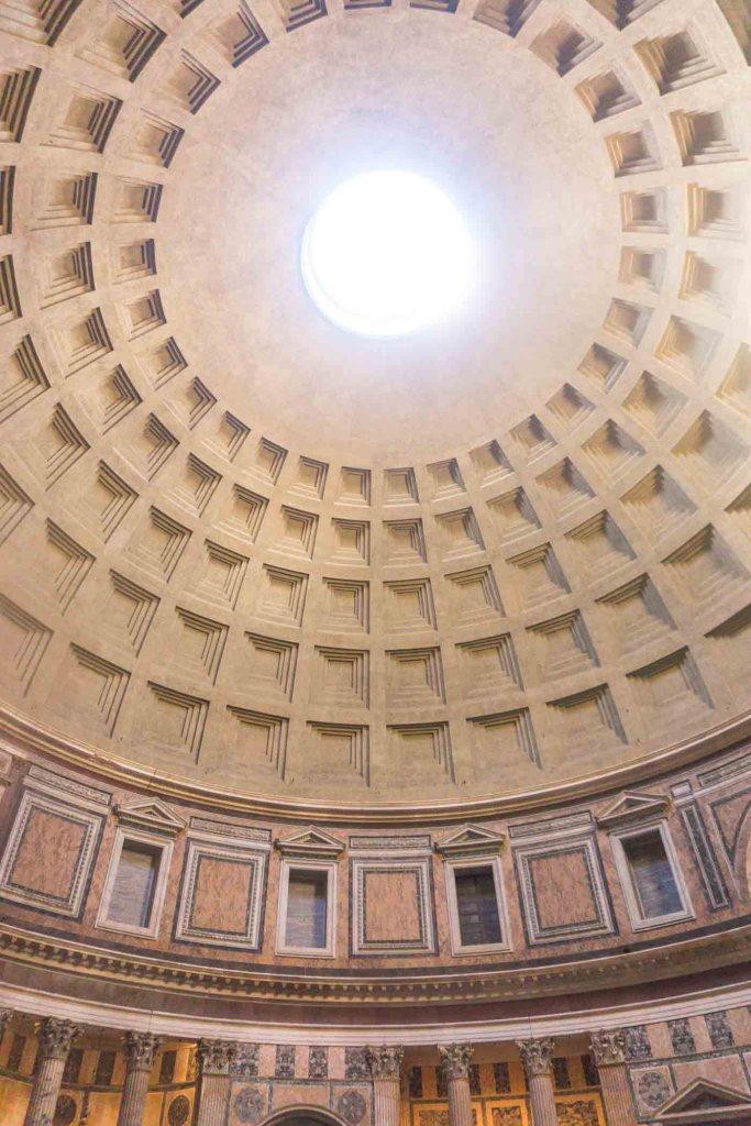 Rome - Italië Pantheon koepel