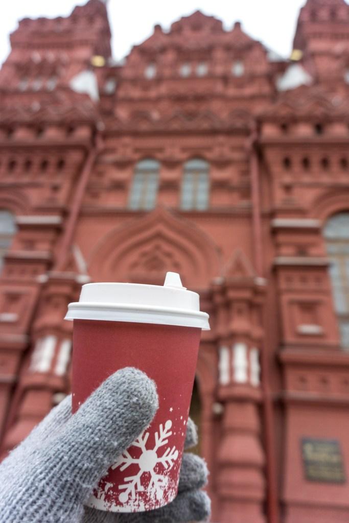Moskou winterfestival kerstmarkt
