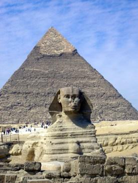 Egypte piramide sfinx