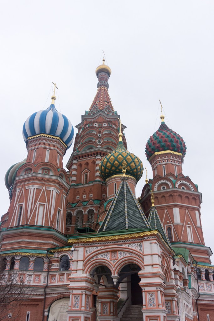 Rusland Moskou St Basil kathedraal