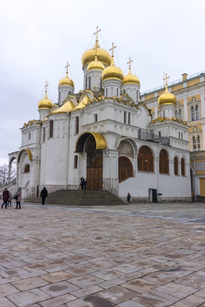 Rusland Moskou Kremlin Cathedral square