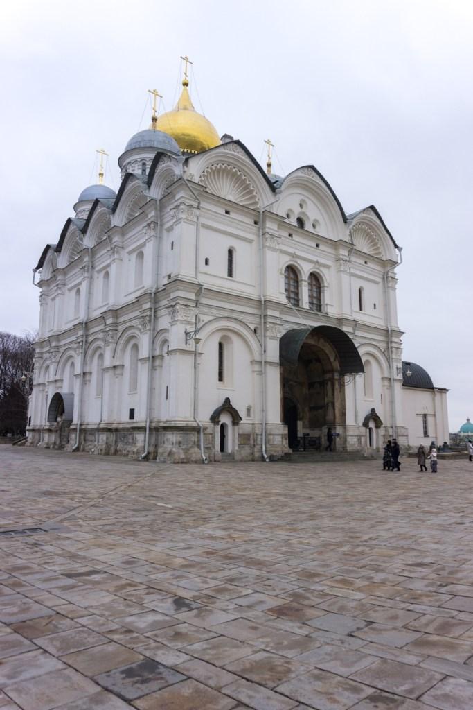 Rusland Moskou Kremlin Cathedral square Archangel kathedraal