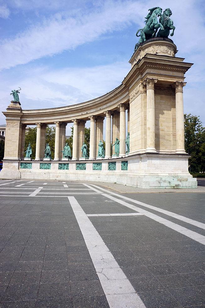 Boedapest heldenplein Hongarije