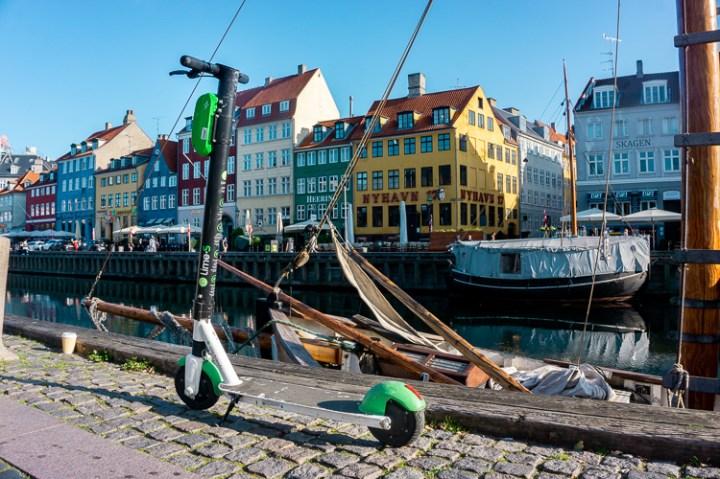 e-scooter in Kopenhagen