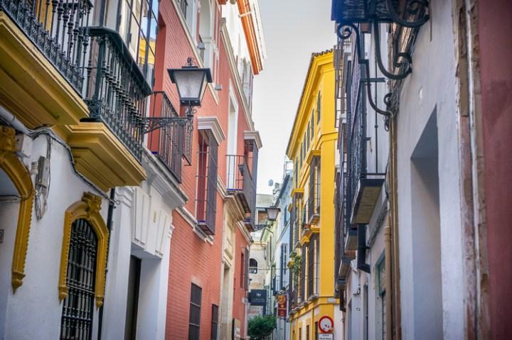 Sevilla straatje in Santa Cruz