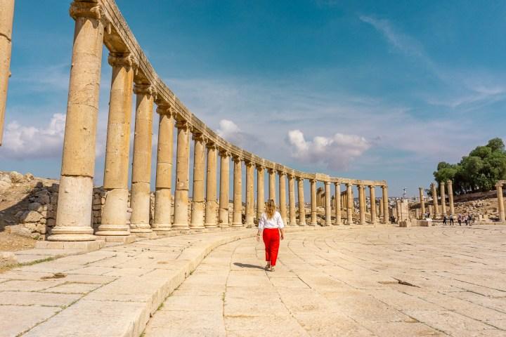 De indrukwekkende stad Jerash in Jordanië