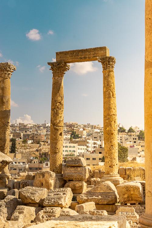 Uitzicht over Jerash