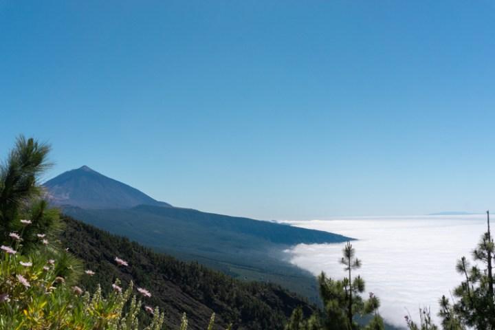 Uitzicht onderweg naar El Teide