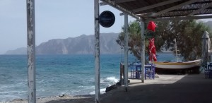 Seaside cafe in Crete