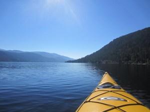 Kayak on Christina Lake