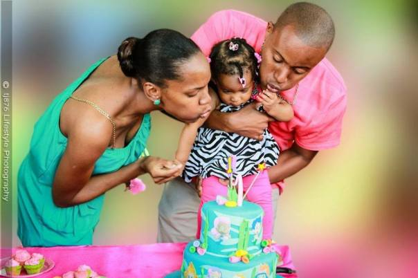 Celebrating baby Kaelah's first birthday