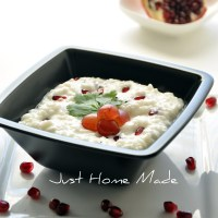 Bakala Baath | Seasoned Yogurt Rice with Pomegranate