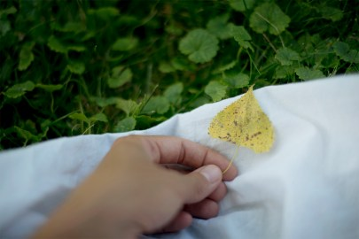 He even gave me a pretty little yellow leaf.