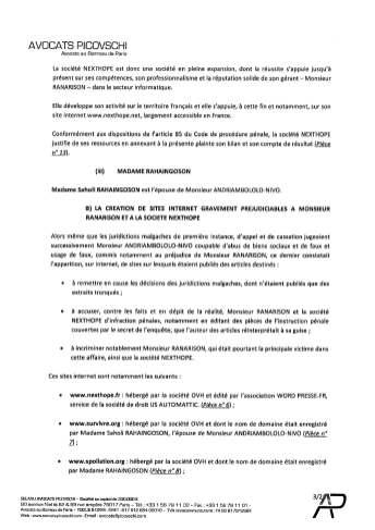 Plainte pénale de RANARISON Tsilavo au Doyen des juges d'instruction Tribunal de grande instance de Paris le 4 juillet 2017_Page_05