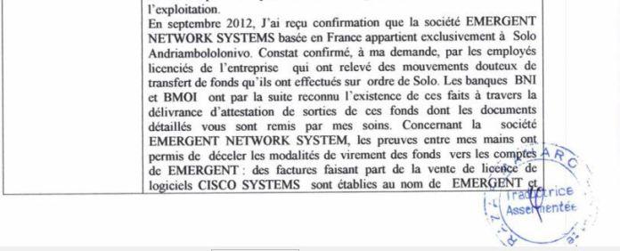 Confirmation de la plainte de RANARISON Tsilavo à la police dès la troisième journée du dépôt de plainte
