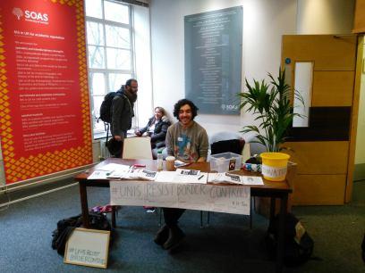 #UnisResistBorderControls event at SOAS, University of London.