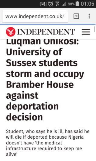 Screengrabs from The Independent: http://www.independent.co.uk/student/news/luqman-onikosi-university-of-sussex-students-storm-and-occupy-bramber-house-against-deportation-a6921421.html