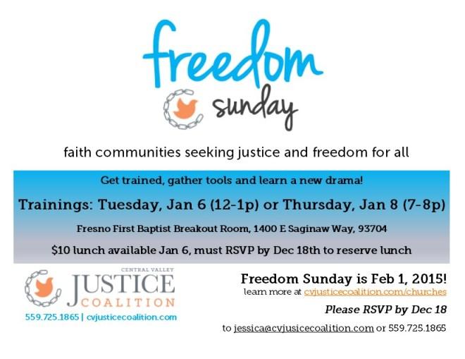Freedom Sunday Training 2015