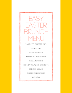 My Easy Easter Brunch Menu + Our Weekend Plans