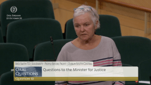 22.10.20 – Brid Smith – Dáil Éireann – Questions to the Minister for Justice