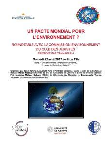Roundtable Pacte mondial pour l'environnement 1