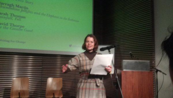 Image showing Justina Hart reading at Free Word, London on 19 January 2017