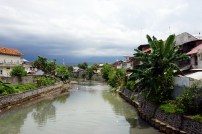 A canal in the town of Singaraja