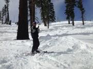 Ben skiing