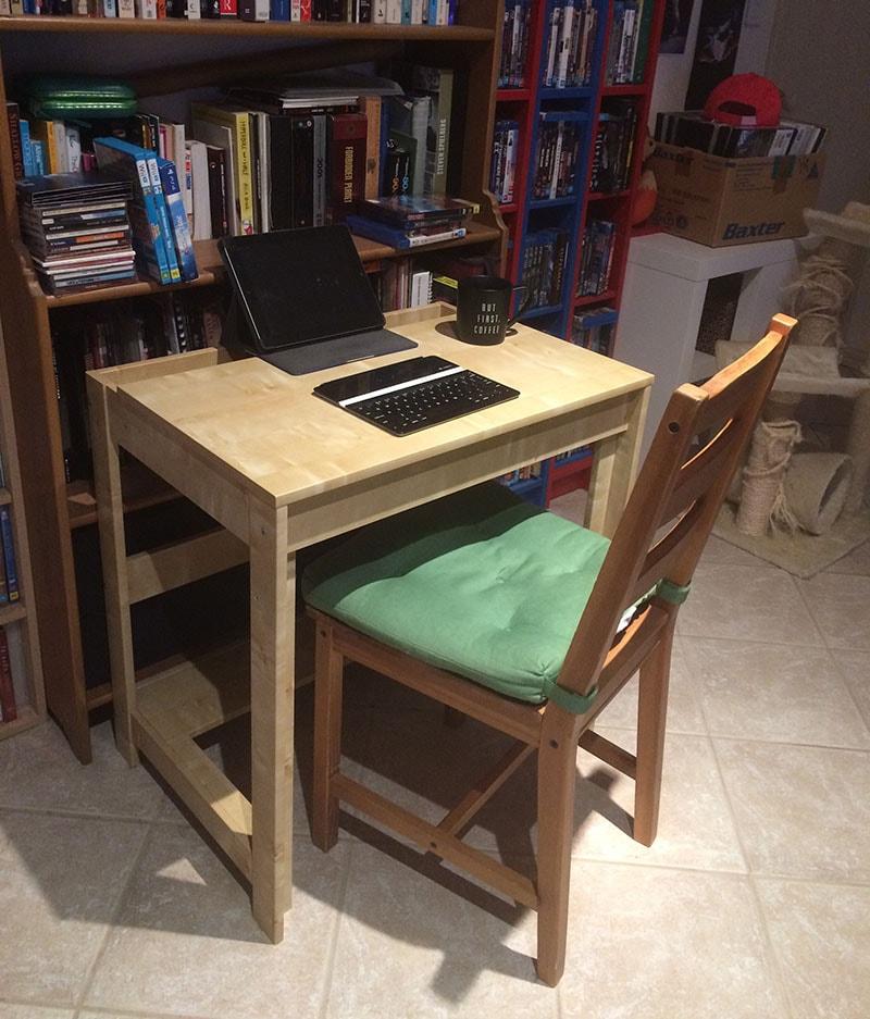 Winter writing desk