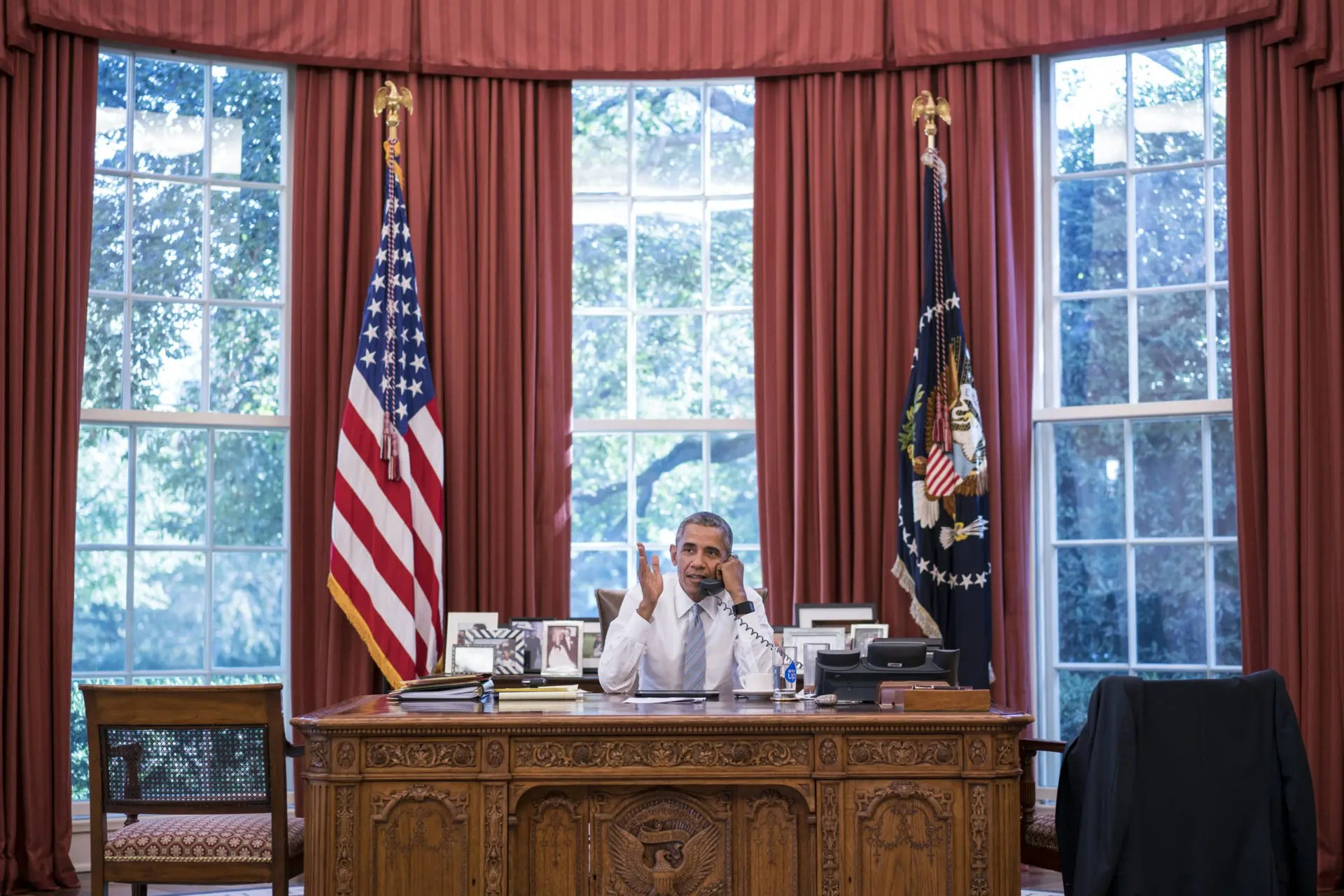 Photo Credit: President Barack Obama talks on the phone with Cuba President Raúl Castro in the Oval Office, Sept. 18, 2015. (Official White House Photo by Pete Souza on Flickr) The use of this photo in no way reflects approval or endorsement of Pete Souza, President Obama, the First Family, or the White House.
