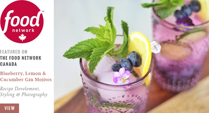 Blueberry, Lemon and Cucumber Gin Mojitos   Featured on The Food Network Canada // JustineCelina.com